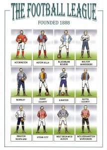 The Football League team kits of 1888 (illustration by David Sque)