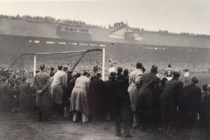 The crowd at Stamford Bridge for Moscow Dynamo's first game