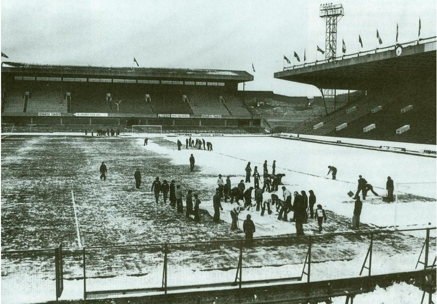 Sheffield Wednesday's Hillsborough stadium before the 1979 FA Cup tie with Arsenal
