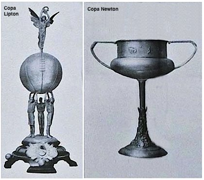 Copa Lipton and Newton trophies