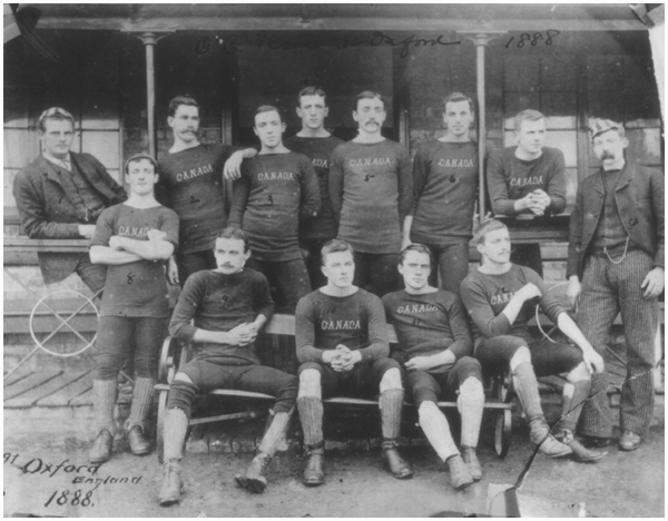 Canadian team at Oxford, 1888