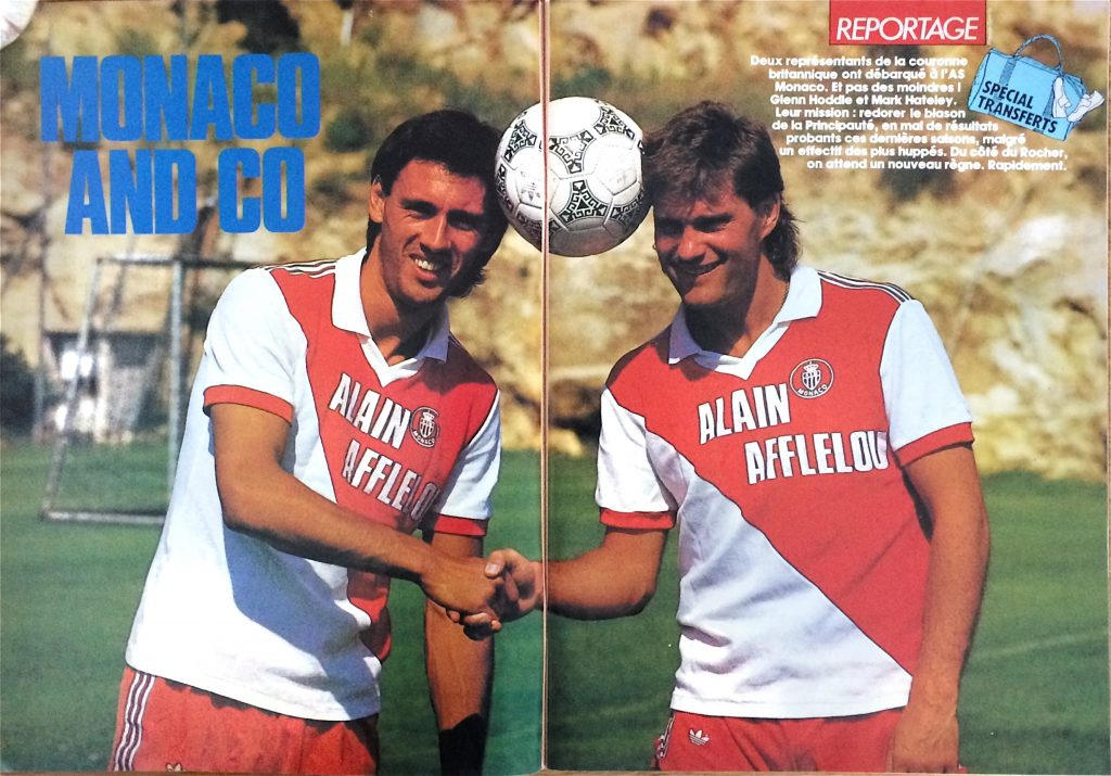 Mark Hateley & Glenn Hoddle arrive at Monaco, 1987