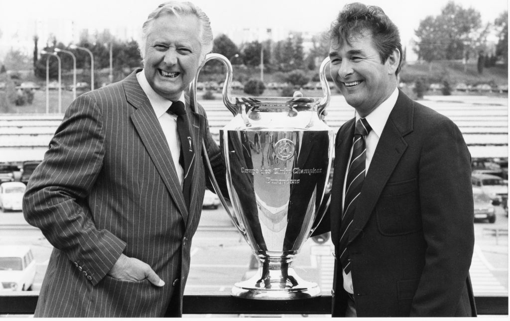 Peter Taylor and Brian Clough with the European Cup
