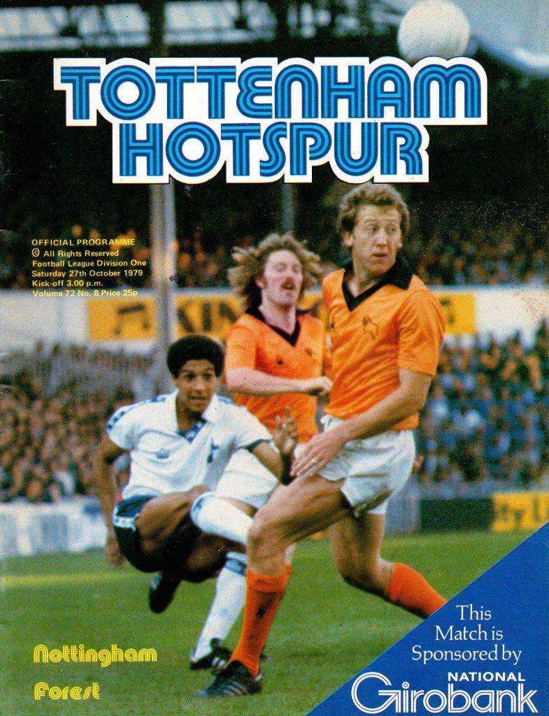 Tottenham Hotspur v Nottingham Forest Match Programme