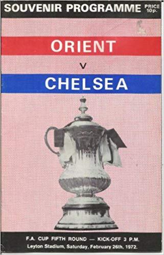 Orient v Chelsea match programme 1972