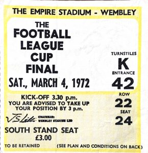 1972 League Cup Final ticket