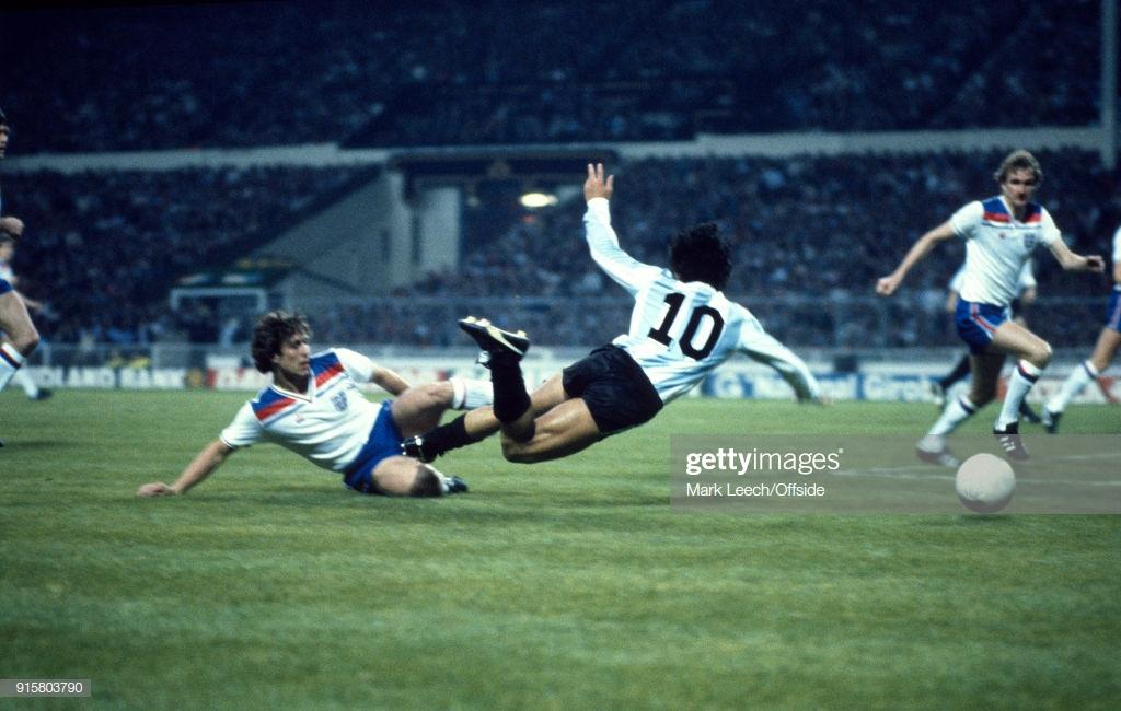 Maradona, England v Argentina 1980