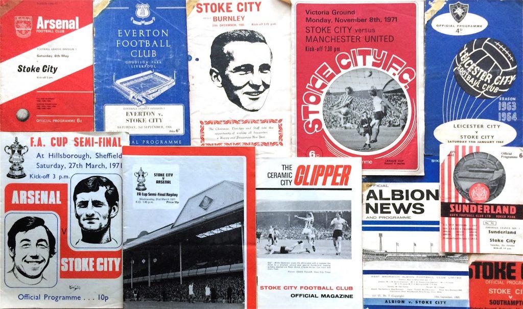 A selection of Derek Goodier's Stoke City programmes