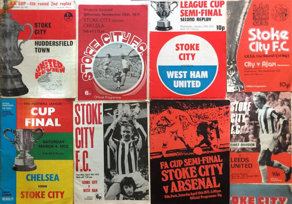 Another selection of Derek Goodier's Stoke City programmes