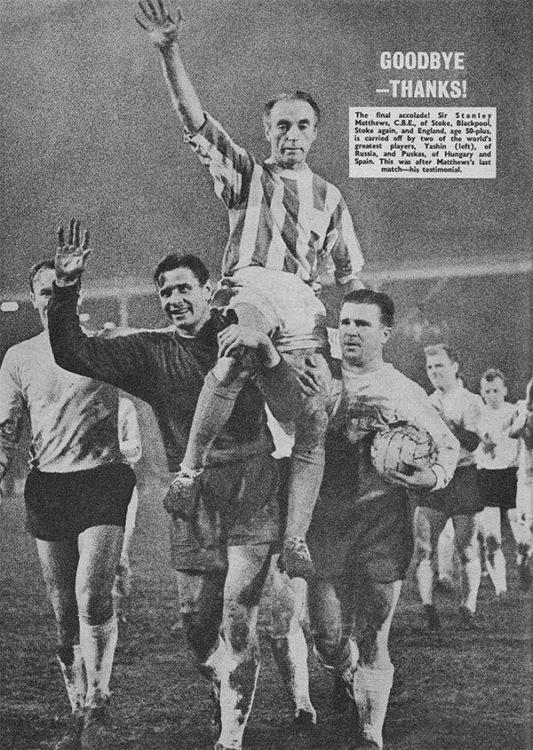 Stanley Matthews Farewell Game 1965