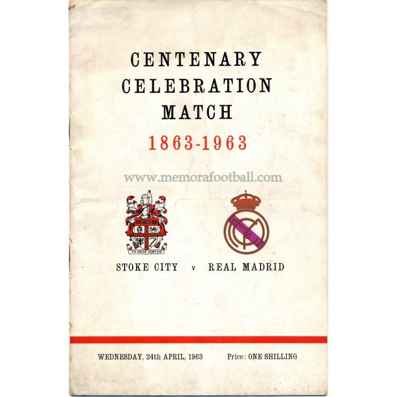 Stoke City v Real Madrid Centenary match programme 1963