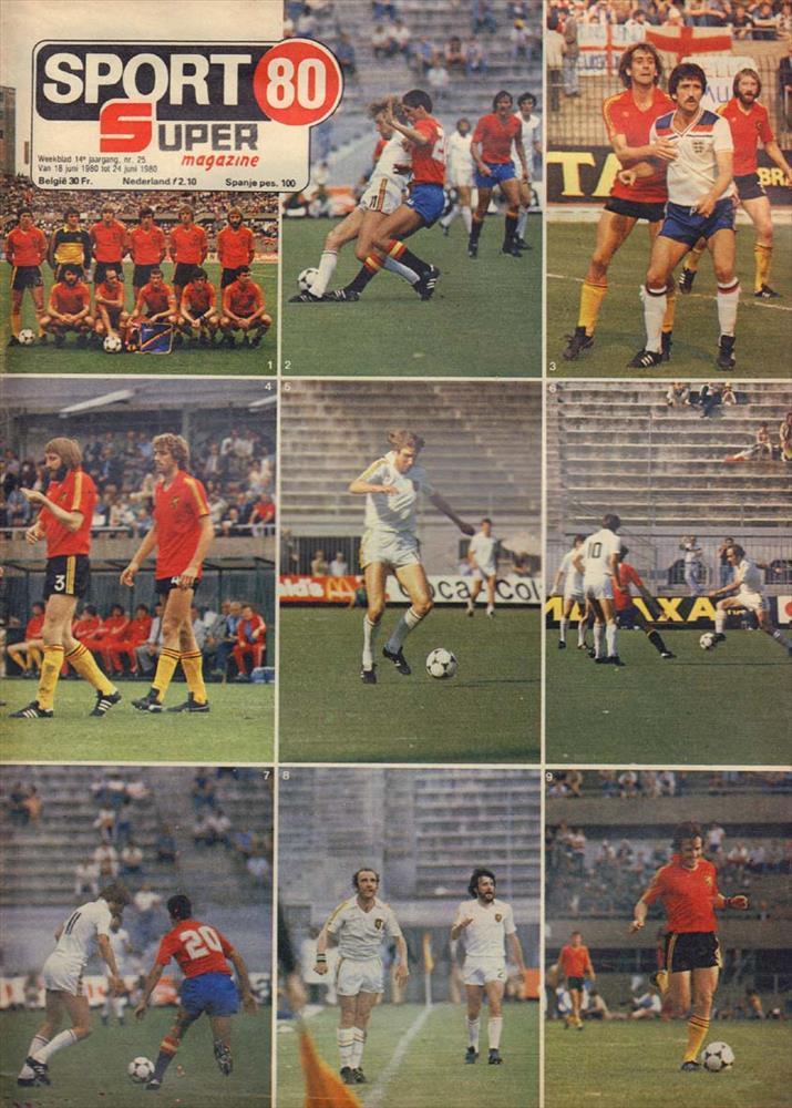 Belgium at Euro 80 (Sport 80 Super magazine)