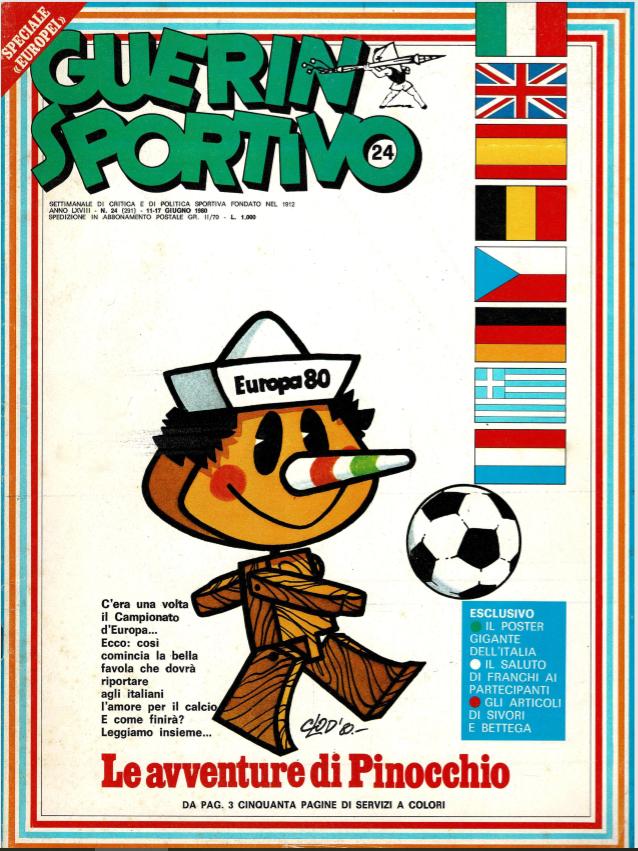 Guerin Sportivo magazine Euro 1980 preview