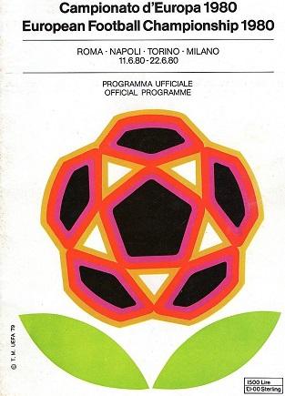 European Championship 1980 official programme