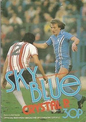 Coventry City v Crystal Palace match programme, 6 September 1980