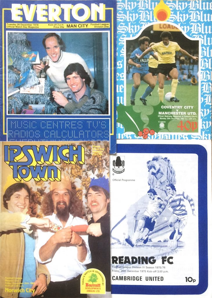 Programmes from Boxing Day fixtures