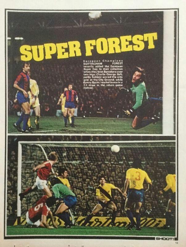 Nottingham Forest v Barcelona, 1979 European Super Cup