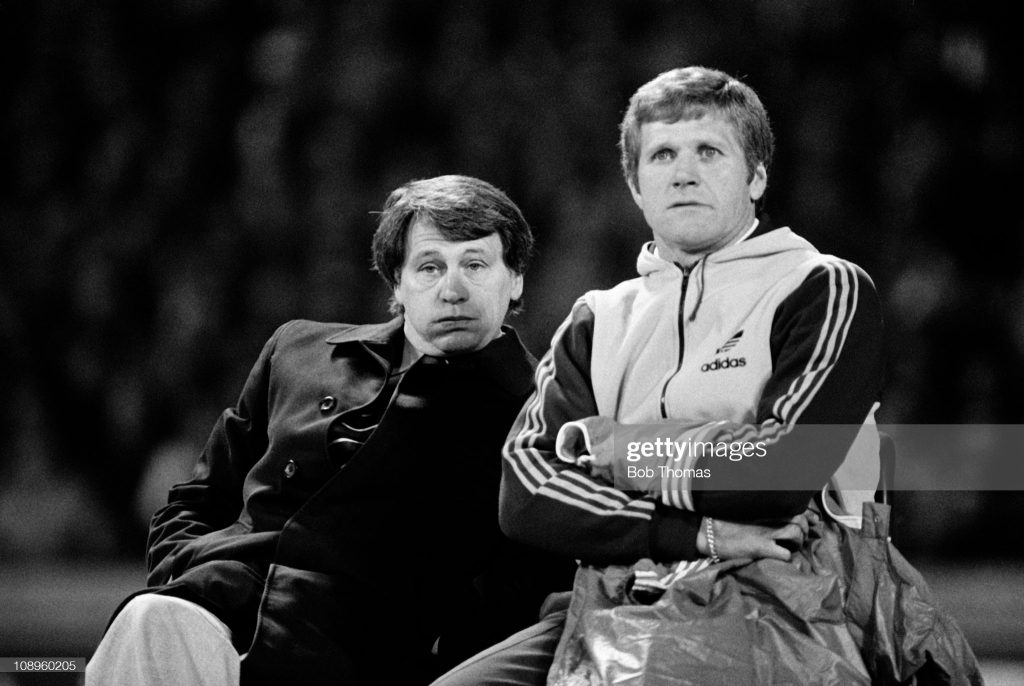 Ipswich Town manager Bobby Robson and his assistant Bobby Ferguson