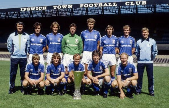 Ipswich Town with the UEFA Cup, 1981