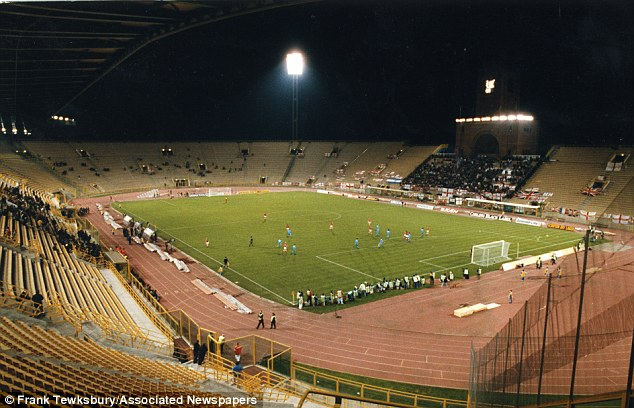 San Marino v England in November 1993