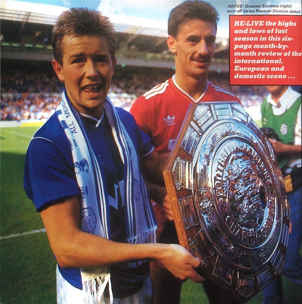 1986 Charity Shield goalscorers Adrian Heath and Ian Rush