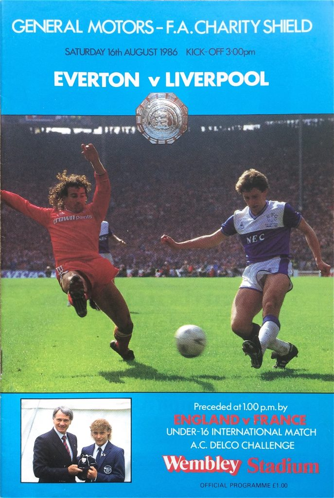 1986 Charity Shield match programme