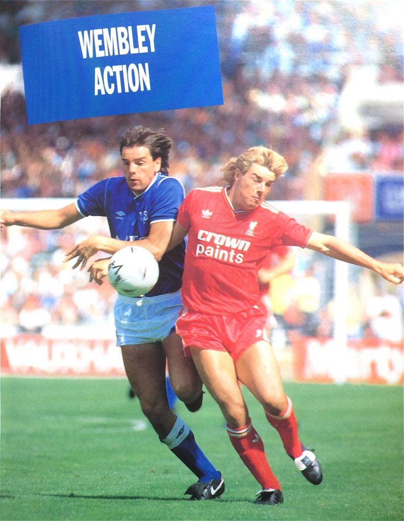 Everton's Graeme Sharp and Liverpool's Barry Venison